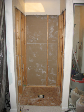 Where there once was a shower....
