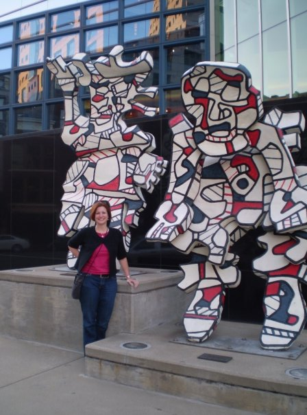 This cool Dubufett is on the plaza in front of the Kentucky Center. There's also a Calder sculpture.