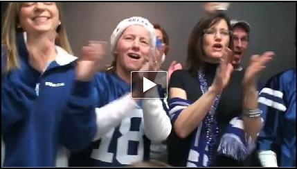 Borshoff cheers on the Indianapolis Colts